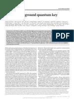 Satellite-to-ground quantum key distribution
