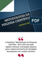 02. Metodologia Da Pesquísa Científica