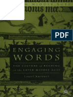 Engaging Words the Culture of Reading in the Later Middle Ages