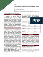 1999, Albuquerque e Regiani. Estudo Do Fruto Do Buriti Para Obtenção de Oleo e Síntese de Biodiesel.