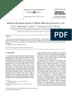 2003, Albuquerque Et Al. Infrared Absorption Spectra of Buriti Mauritia Flexuosa Oil.