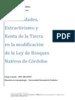 Racionalidades,  Extractivismo y  Renta de la Tierra en la modificación  de la Ley de Bosques  Nativos de Córdoba
