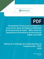 Lineamientos Tecnicos Para IPS