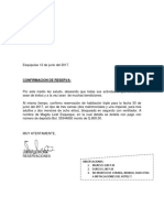 Confirmacion de Reserva Hotelera