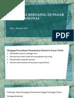 Strategi Bersaing Di Pasar Internasional