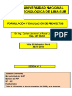 SESION N° 1-  FORM. Y EVAL  DE PROY  SNIP  UNTELS