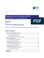 Energy Service Companies ESCO Monetization of Energy Efficiency