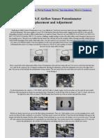 Airflow Sensor Potentiometer