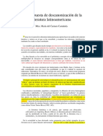 Una Propuesta de Descanonización de La Literatura Latinoamericana. Maria Castañeda