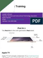 Joseph Johnson - iPad Basic Training
