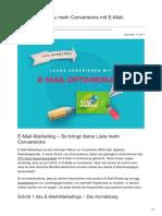 Upliftr.de - In 10 Schritten zu mehr Conversions mit E-Mail-Marketing