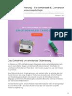 Upliftr.de - Emotionale Optimierung | So kombinierst du Conversion-Optimierung & Konsumpsychologie
