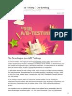 Upliftr.de - So funktioniert A/B-Testing | Der Einstieg