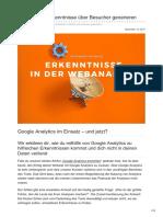 Upliftr.de - Mit Analytics Erkenntnisse über Besucher generieren