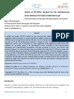 adpaleno y peroxido por HPLC