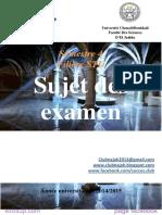 Examens de La Filière STU S4 by ExoSup.com