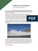 El Control Climático en Invernaderos