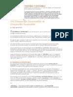 Desarrollo Sustentable y Sostenible