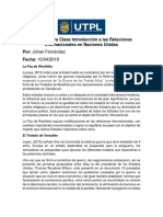 Trabajo Extra Clase Introducción a Las Relaciones Internacionales en Naciones Unidas