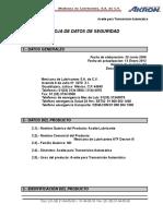 7. MSDS ATF Dexron III (Revisión 01).pdf