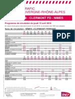 Ligne Clermont - Nîmes
