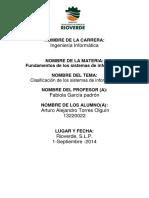 Clasificacion Sistema de Informacion5754