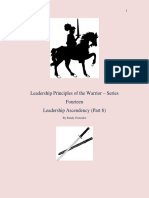 Leadership Principles of the Warrior Part 6 Series 14
