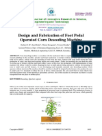 350_design and Fabrication of Foot Pedal Operated Corn Deseeding Machine