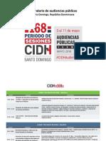 CIDH Calendario 168 Audiencias Es