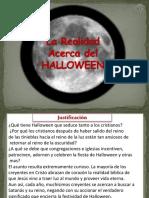 La Realidad Acerca del  HALLOWEEN.ppsx