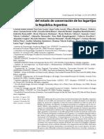 Categorización Del Estado de Conservación de Las Lagartijas