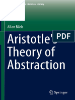 (the New Synthese Historical Library 73) Allan Bäck (Auth.)-Aristotle's Theory of Abstraction-Springer International Publishing (2014)