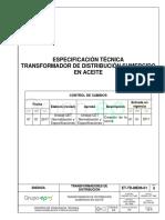 Et-td-me06-01 Transformador Sumergido en Aceite