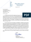 SES Reorganization Letter Sen. Udall to Deputy Inspector General Kendall
