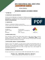 Ambientador Liquido Lavanda Orion