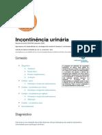 2006 - Incontinência urinária