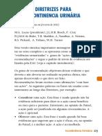 2012 - Diretrizes Para Incontinência Urinária