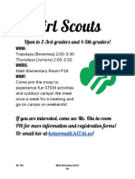girl scouts flyer