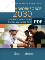 Health Workforce 2030 WHO