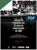 Justica de Transicao Nos 25 Anos da CF