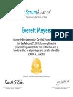 Everett Meyers-ScrumAlliance CSM Certificate Copy