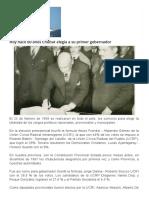 Hoy Hace 60 Años Chubut Elegía a Su Primer Gobernador _ Cholila Online