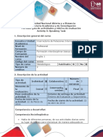 Activity Guide and Evaluation Rubric - Speaking Task