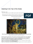 Meaning in the Year of the Snake