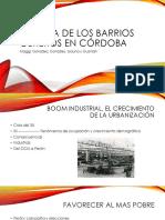 Historia de Los Barrios Obreros en Córdoba
