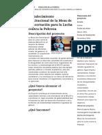 Fortalecimiento Institucional de La Mesa de Concertación Para La Lucha Contra La Pobreza _ El PNUD en Perú