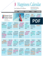 Happiness Calendar March 2018
