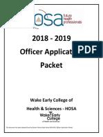 2018-2019 hosa officer election process - wechs