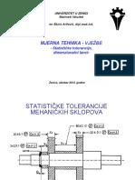 Statističke Tolerancije Mehaničkih Sklopova