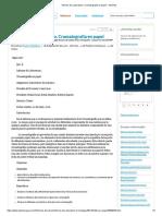 Informe de Laboratorio. Cromatografía en Papel - Informes